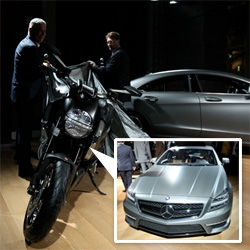 Unveiling of the Mercedes-Benz CLS 63 AMG, the Ducati Diavel, and the announcement of AMG and Ducati partnership!