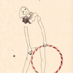How lovely are these very simple and elegant clear-line & watercolour fashion illustrations from Japanese illustrator Micca.