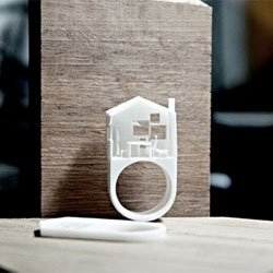 Cute rings from Michael Ong Design Office.