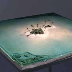 a miniature deserted island in the middle of your  dining table. The art of Michael Samuels