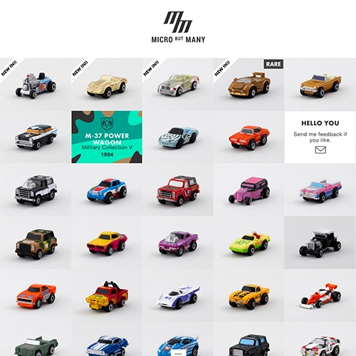 Micro But Many is the digital museum of Tim Smith's Micro Machines Collection. Currently up to 1172 to browse.