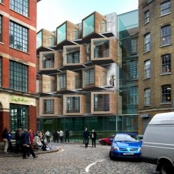 Microflat is a proposal for affordable high-density housing in London, England