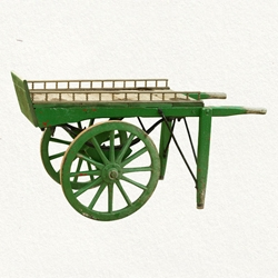The Terrain webstore has a one-of-a-kind mid-century Garden Pushcart from the UK that was last used to move stones, soil, and compost in the Chelsea Flower Market.