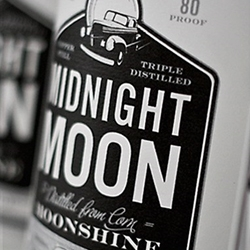 Shane Cranford's packaging design for Midnight Moonshine.