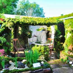 Stressed out? Escape to this moss-covered secret garden filled with enchanting botanical arrangements, lush living walls and even a crystal clear waterfall.