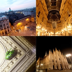 Even without design week ~ milan is quite a site to behold... especially from the roof at sunset! And the glow of the duomo and galleria late at night ~ and the details that keep it real ~ like trapped escapee tanks and unicorns!