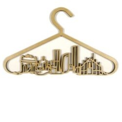 Also from SIXIXIS a series of 5 laser cut hangers representing the five fashion capitals of the world. This one is my favorite!