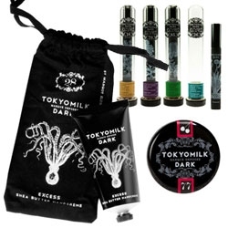 Tokyo Milk Dark Femme Fatale and Fate & Fortune collections have incredible packaging and point of sale displays... and smell great as well!