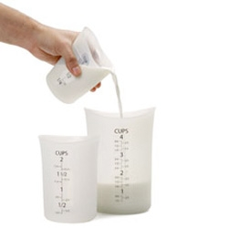 Flexible Measuring Cups - Ken LeVan, 2008 ~ made of translucent silicone, three nested cups