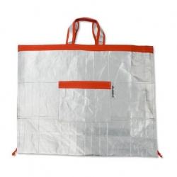 Check out this tote made from recycled Portuguese milk cartons. Part of Destination: Portugal, MoMA-exclusive product collection.