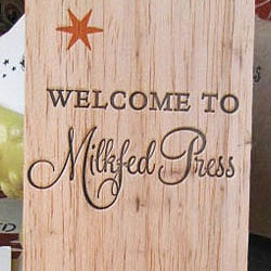 Milkfed Press, a letterpress and bindery studio based in Oakland.