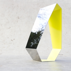 Mirror made of stainless steel by Francois Clerc for made in Design.