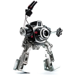 Italian artist Andrea Petrachi aka Mimatic, creates wonderful robotic sculptures from old electronics, recycled parts and discarded toys.