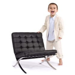 Mini Mies is a 2/3 scale reproduction of the 1929 design classic. For the little modernists in your family.