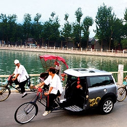 MINI reinvents a traditional Beijing transport for the Olympics.