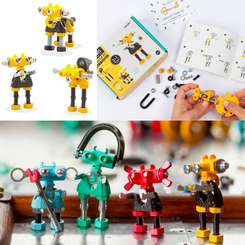 "OffBits from Fat Brain Toys. Each kit enables you to create at least 3 unique ""out of the box"" models, plus an infinite number of possible designs created by your own imagination and includes a special five-in-one SuperTool."