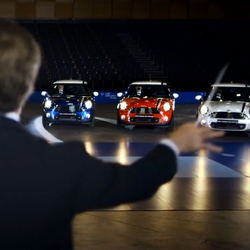 The London Philharmonic Orchestra and conductor Gareth Newman teamed up with MINI for the London 2012 Limited Edition MINI's unique tribute to Team GB.