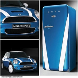 Who wouldn't want a matching Mini Cooper and Smeg refrigerator?