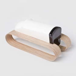 Czech designer Vrtíška Žák created WOO Toys as minimalist decor for children. The solid wooden sculptures represent an airplane, bulldozer, and sailboat, each symbolizing air, earth, and water, respectively.