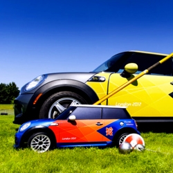 Mini Cooper R/C cars are being used for javelin and discus retrieval in the London 2012 Olympic Games. Mini Minis!