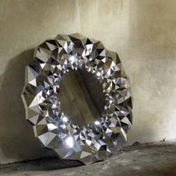 The Stellar mirror by Jake Phipps is inspired by the physical attributes of cut diamonds.