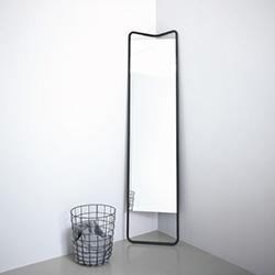 Kaschkasch Floor Mirror for Menu SS14. Design by Kaschkasch. Smart triangle at the top making it extra corner-ready.