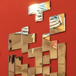 Soner Ozenc's Tetris Wall Mirrors ~ cute idea!