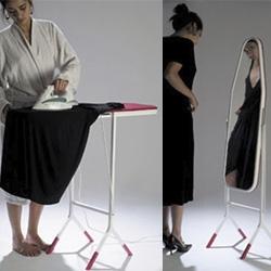 Ironing Board Mirror designed by Aïssa Logerot.