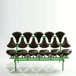Mishmash bench by Jeremy Petrus, in collaboration with Selle Royal.