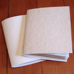 the Braille Blank Notebook