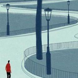 italian illustrator alessandro gottardo aka shout creates beautiful illustrations that feature wide open spaces.