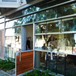 Interstice Architects' Mission:House.This high-tech solar home in San Francisco features a gorgeous façade made from recycled windows!