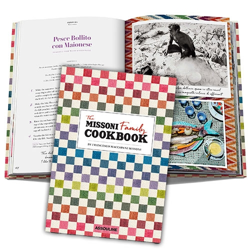 The Missoni Family Cookbook from Assouline looks so FUN. It's filled with colorful patterns and textures tucked beneath and around all the delicious looking food!