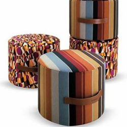 use these pouf cushions from missoni to perk up your tired house decor... and your feet!