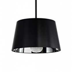 Mistral Ceiling Fan by Moooi. A cool, bright idea-literally. Under the drum shade lies not just a light, but a functional fan. The light shines through a cut-glass diffuser for a prismatic effect.