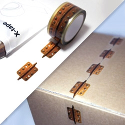 X-tape (hinge) by mmiinn studio, adds fun to your packaging.