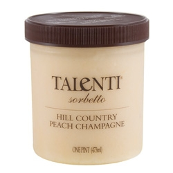 Talenti's Hill Country Peach Champagne Sorbetto is quite possibly the most delectably delicious sorbet i've tasted. (Also, i'm still in love with their reusable plastic twist top containers)