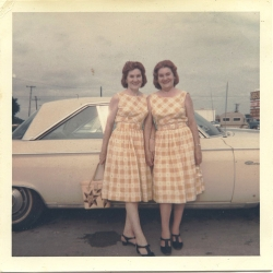 A remarkable set of found photos on Flickr that follow a pair of twins over 70 years. Their matching outfits are too good.