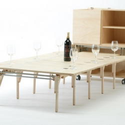 Mobile dining by Nobuhiro Teshima. Perfect for cramped ny apartments!