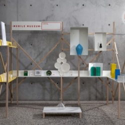 The Mobile Museum, by Fabrica designers Dean Brown and Philip Bone, is a traveling museum, with contents contributed by people from all over the world.