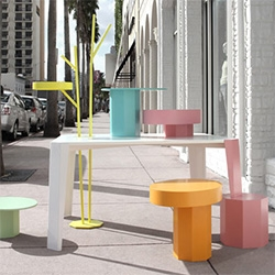 Table In Wonderland and Family by Fabrica. Its a system of store displays especially created for the remodeled United Colors of Benetton Miami flagship.