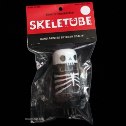 Skeletubes store: featuring hand-painted reclaimed vacuum tubes by Skull-A-Day's Noah Scalin.