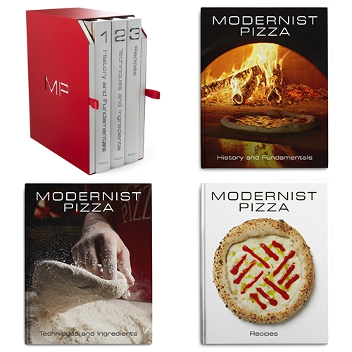 """Modernist Pizza - """"... it's an indispensable resource for anyone who not only loves to eat pizza but is also interested in the science, stories, cultures, and history behind it."""" 1,708 pages on pizza!"""