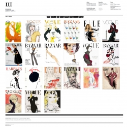 Modesquisse - Curated gallery of fashion illustrations on magazine and book covers. Serves as a resource for inspiration and educational purposes about fashion illustration.