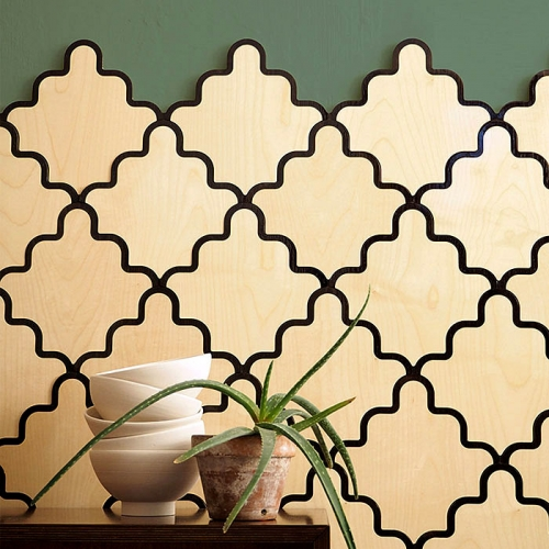 Tarsine, the new range of modular inlaid wooden wall coverings, designed by Serena Confalonieri for Portego