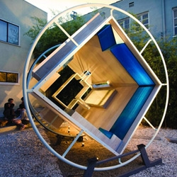 This furniture design concept replicates zero gravity by rotating a full 360-degree turn every hour. Every surface is designed to function at any angle!