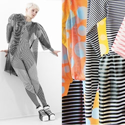 "Anouk van de Sande ""Print In Motion"" - Moire effects in fashion... even more enticing and mesmerizing that in print. As beautiful as her pictures are, you have to see the video to get the full effect!"