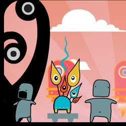 Cute animated characters on the  MOKO website. A different take on social networking. Forget web, its on your mobile!