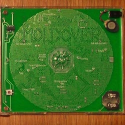 Controllerist Moldover has released a special edition CD - the album cover just doesn't just look like its made of circuitry...it is! The circuit is a working Theremin you can use to play along to the album.