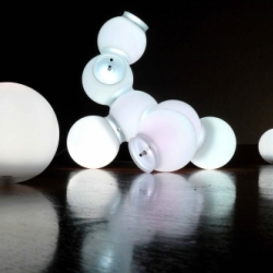 Nomad Light Molecule, designed by Maarten De Ceulaer. Another unique light design with the molecule atom shape where the light position is fully configurable - yes, you can change the shape of the light according to your taste.